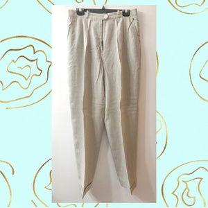 Lauren Ralph Lauren Pale Sage Linen Pants